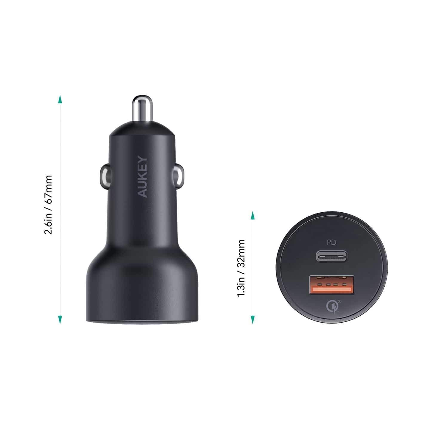Aukey CC Y6 36W USB C Power Delivery And USB QC3.0